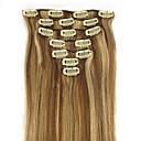 入手可能なヒト人間の髪の毛の拡張子ストレート多くの色で20インチ7PCS 70グラムクリップ