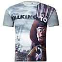 Tee-Shirt Décontracté Pour des hommes Manches Courtes Lettre Polyester