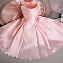 Plesové šaty Ke kolenům Šaty pro květinovou družičku - Satén Bez rukávů Klenot s