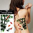 5kom cvijet ptica decal vodootporan tetovaža DIY kane bambus riba šaran privremeni tattoo naljepnice