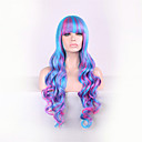 Nova boja crtani perika miješanjem 28 inča visoka temperatura kovrčava kosa svilena perika