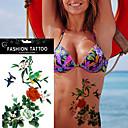 5kom cvijet ptica decal vodootporan tetovaža naljepnica za žene body art seksi šminke alat