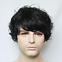 capless crna kratka vala čovjekova stvarna ljudska kosa vlasulja za muškarce