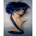 2 boje novog stila čovjeku cosplay vlasulja sintetičke kose perika pletenje dugim vitičasta animirane perika tkanja strana perika