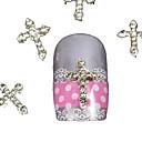 10pcs srebro bižuterija prijelaz prst savjete pribor nail art ukras