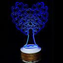 bezdrátová Bluetooth reproduktory 3D barevné noční osvětlení dává strom