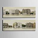 platno Set Pejzaž Europska Style,Dvije plohe Platno Vertikalno Ispis Art Zid dekor For Početna Dekoracija