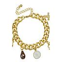 Narukvice Gipke i čvrste narukvice / Narukvice s privjeskom Legura Heart Shape Moda Jewelry Poklon Zlatna,1pc