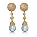 Náušnice Perla Round Shape Visací náušnice Šperky Dámské Módní / Měsíční kámen Svatební / Párty / Denní / Ležérní / N/ANapodobenina perel
