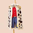 Inspirovaný One Piece Monkey D. Luffy Anime Cosplay kostýmy Cosplay šaty Patchwork Czerwony Krátké rukávy Přehoz / Vesta / Kalhoty / Pásek