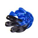 Smeđa box pletenice Twist pletenice Ekstenzije za kosu 20inch Kanekalon 3 Nasukati 100G gram Sušilo za pletenice