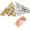100pcs vrhunske kvalitete postavljene 5mm zlato i srebro trokut metala Studs manikura nail art ukrasa