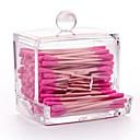 メイク用品収納 化粧品箱 / メイク用品収納 アクリル ゼブラプリント 9.5x7.5x9.8