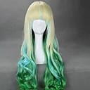 2 boje pune BANG 80cm dugo Cosplay perika valovita Harajuku ombre vlasulja sintetička perika Halloween kostim stranka perika