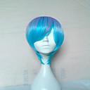antény bez patice blond cosplay paruka dlouhé rovné vlasy paruka syntetické modrá fialová Bown 4 barvy
