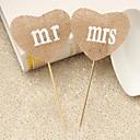 Figure za torte Personalized Par Classic / Hearts Smola Vjenčanje / Godišnjica / Bridal Shower Uzde ČokoladaPlaža Teme / Vrt Tema /