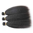 Lidské vlasy Vazby Brazilské vlasy yaki 12 měsíců 3 kusy Vazby na vlasy
