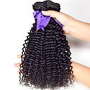 人間の髪編む ブラジリアンヘア カール 6ヶ月 3個 ヘア織り