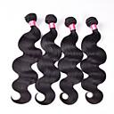 4 Pièces Ondulation naturelle Tissages de cheveux humains Cheveux Brésiliens 400g 10''-30'' Extensions de cheveux humains
