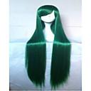 100cm dlouhé rovné vlasy syntetické klasické ženy paruka zelená fialová cosplay paruky paruka custome stran