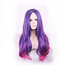 紫原宿オンブルかつらpelucas pelo波状自然耐熱アニメのコスプレウィッグは、合成かつらの女性のヘアスタイルをperruque