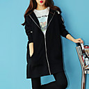 Žene Vintage Ležerno/za svaki dan Duga Hoodies,Crna Print S kapuljačom Dugih rukava Poliester Jesen Srednje Mikroelastično