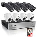 zosi®8ch 720p HDMI DVR ugrađenim 1TB HDD 8pcs 1.0mp sigurnosni sustav kamera kit