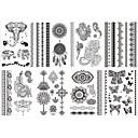 8ks opp nový design značky india černá henna inkoust tetování dočasné nálepka inspirován blesk sexy tetování body art # 2