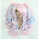 modni 70cm duge plave mješovite roza valovite ponytails visoke kvalitete sintetička Lolita stranka cosplay perika