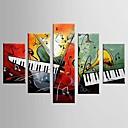 手描きの 抽象画 カジュアル 任意の形状,Modern クラシック 5枚 キャンバス ハング塗装油絵 For ホームデコレーション