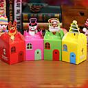 náhodná barva Estilo 80 unids kutilství de dibujos animados de Navidad ao nuevo Caja de regalo Caramelo Lindo Cajas de la dort vspera de