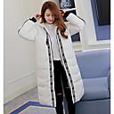 Dámské Standardní S vycpávkou Jednoduché Běžné/Denní Jednobarevné-Kabát Bavlna Polypropylen Dlouhý rukáv Bílá / Oranžová