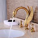 kusy rozšířený umyvadlová baterie vodopád kohoutek zlatý povrch