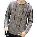 Muškarci Vintage / Jednostavno / Ulični šik Ležerno/za svaki dan / Formalno / Rad Regularna Pullover,Plava / SmeđaJednobojni / Na točkice