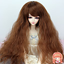 38 cm dlouhé kudrnaté světle hnědá barva na vlasy 1/3 1/4 BJD SD dz panenka paruka příslušenství, které není pro dospělého člověka