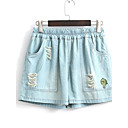 Žene Klasične hlače Kratke hlače Hlače Jednostavno Ležerno/za svaki dan Print Normalan struk Elastičnost Pamuk Micro-elastične Ljeto