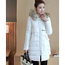 Dámské Standardní S vycpávkou Jednoduché Běžné/Denní Jednobarevné-Kabát Polyester Polypropylen Dlouhý rukáv Bílá / Černá