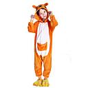 Kigurumi Pyžama Klokan Leotard/Kostýmový overal Festival/Svátek Animal Sleepwear Halloween Žlutá Patchwork polar fleece Kigurumi Pro Dítě