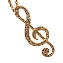 Dámský dlouhý náhrdelník s přívěškem ve tvaru houslového klíče