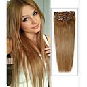 """20 """"7ks # 16 tmavý med blond rovné klip v lidských Remy prodlužování vlasů"""