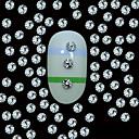 100ks 2mm kulaté stříbrné kovové nýty svorníky s top obilí linie nail art dekorace