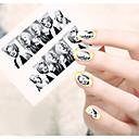 1ks vodní přenos nail art samolepky krásná dívka a dáma image železná věž nail art designu stz190-195