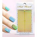 Nový nail art duté nálepky květ geometrický tvar konstrukce nail art krása k051-060