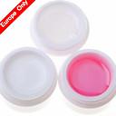 3pcs Nail Art UV Gel (1 Jasno & 1 & White 1 Pink)