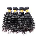 100%が処女人間の髪の毛、無脱落なしもつれ3個/ロットブラジルディープウェーブヘア波状をumprocessed