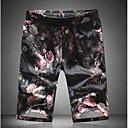 Pánské Jednoduchý Aktivní Není elastické Kraťasy Kalhoty Rovné Mid Rise Jednobarevné