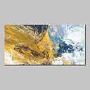 Ručně malované Abstraktní Horizontální,Abstraktní Moderní Jeden panel Plátno Hang-malované olejomalba For Home dekorace