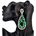 Žene Viseće naušnice Umjetno drago kamenjeOsnovni dizajn Jedinstven dizajn Geometrijski Prijateljstvo Kićankama SAD Moda Uglađeni Vintage