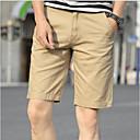 Pánské Retro Jednoduchý Není elastické Kraťasy Kalhoty Rovné Mid Rise Jednobarevné