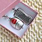 Stainless Steel Privjesak favorizira-6 Pairs Komad / set Keychains Vrt Tema Personalized Silver
